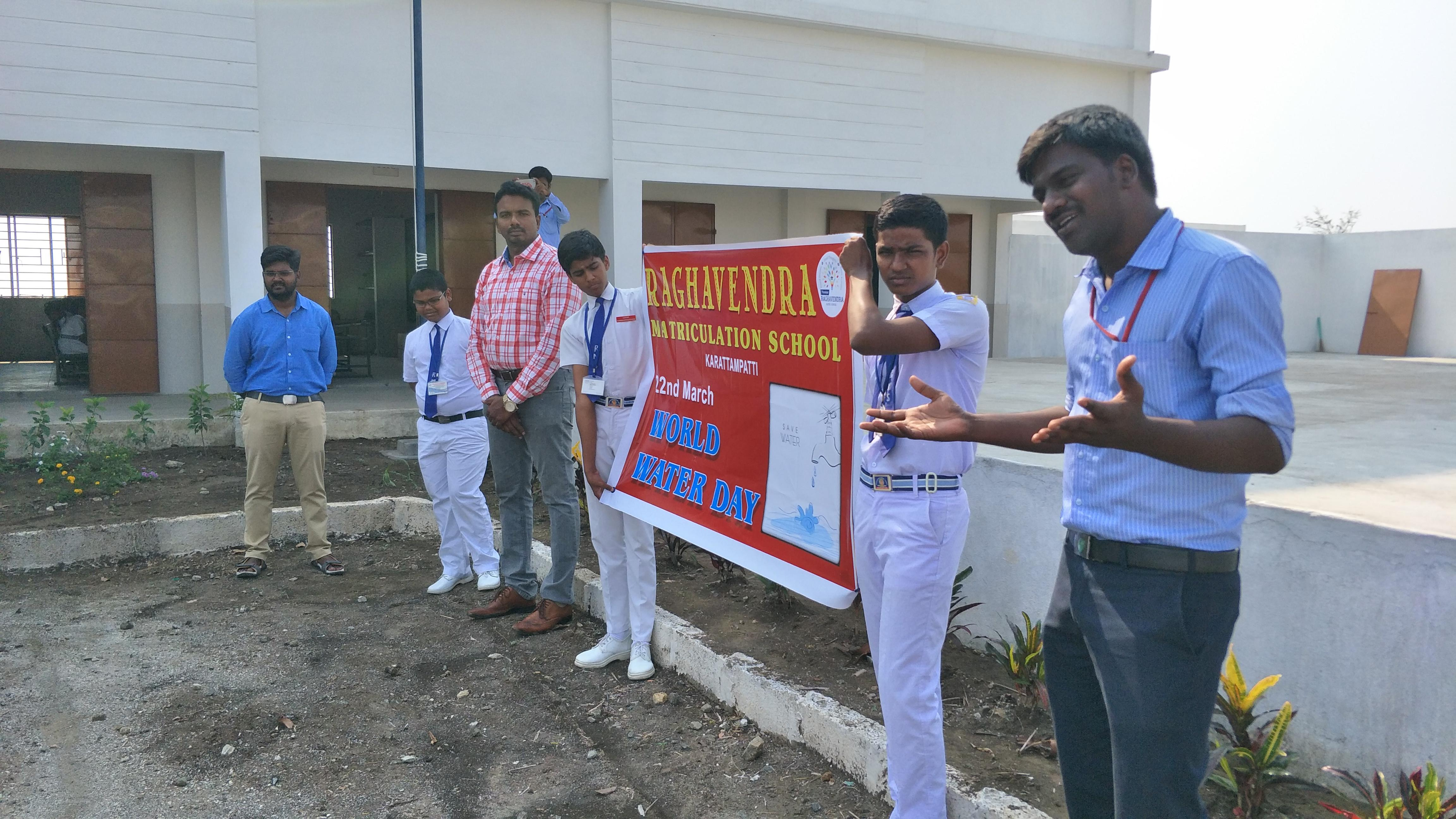 World Water Day Celebration at Raghavendra Matriculation School