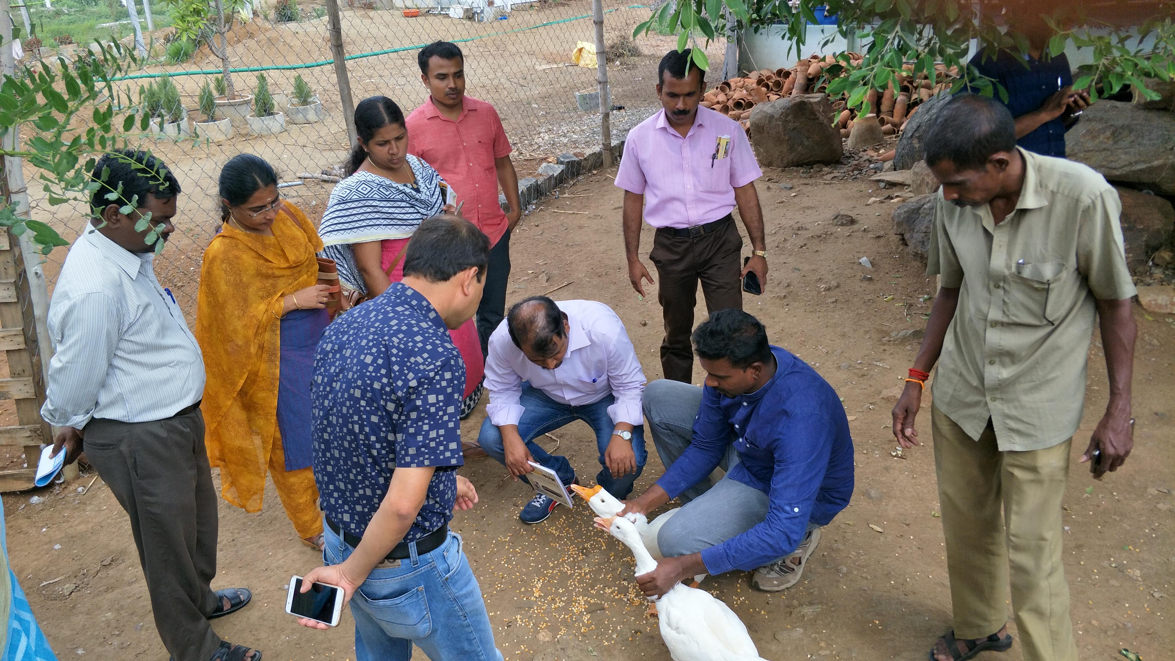 Visit of the Veterinary Doctors of the Veterinary University, Chennai in Global Nature Foundation's Farm.