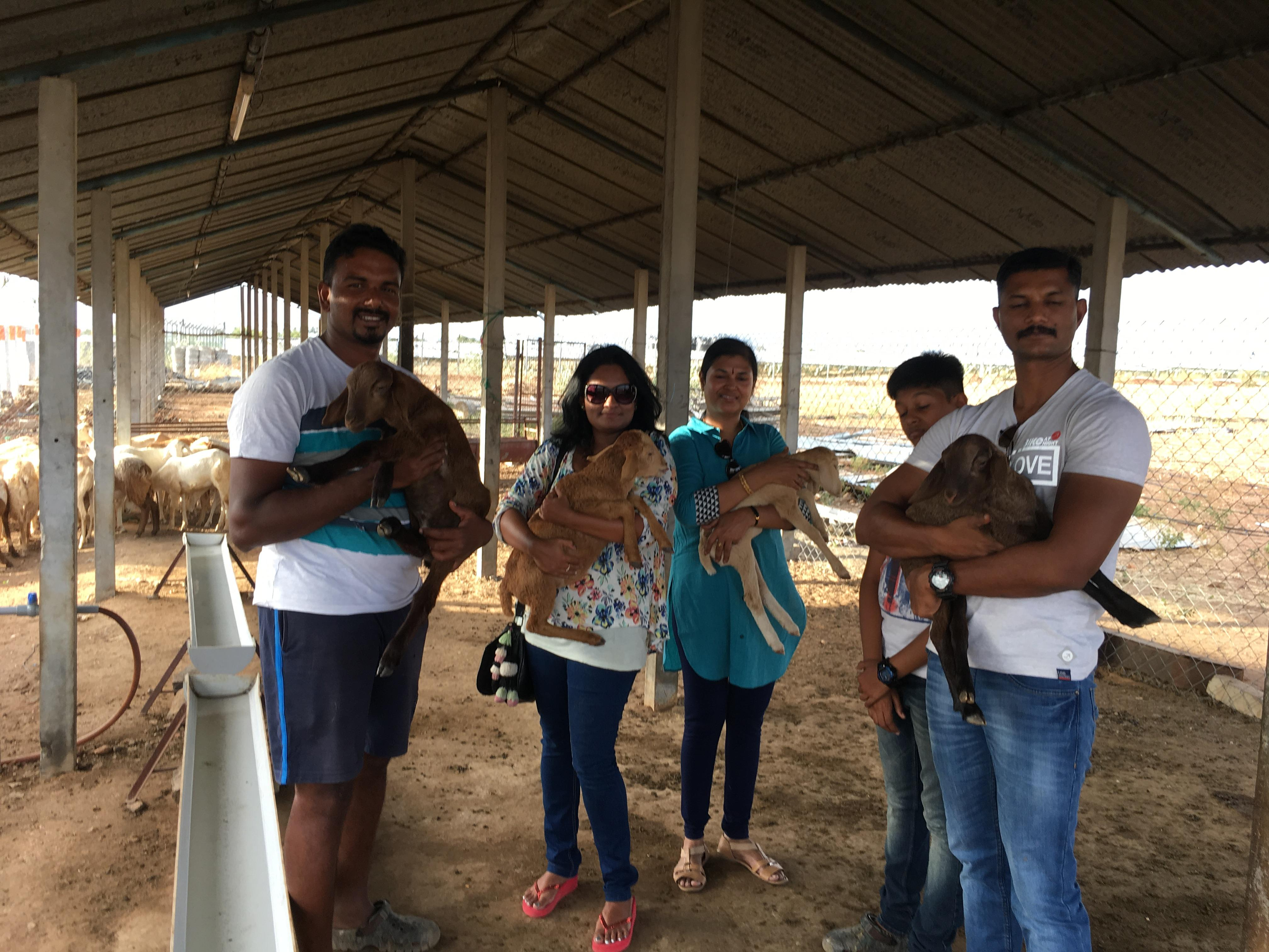 Visit of DCP Mailvaganan IPS, with his Family to our Global Nature Foundation's Farm
