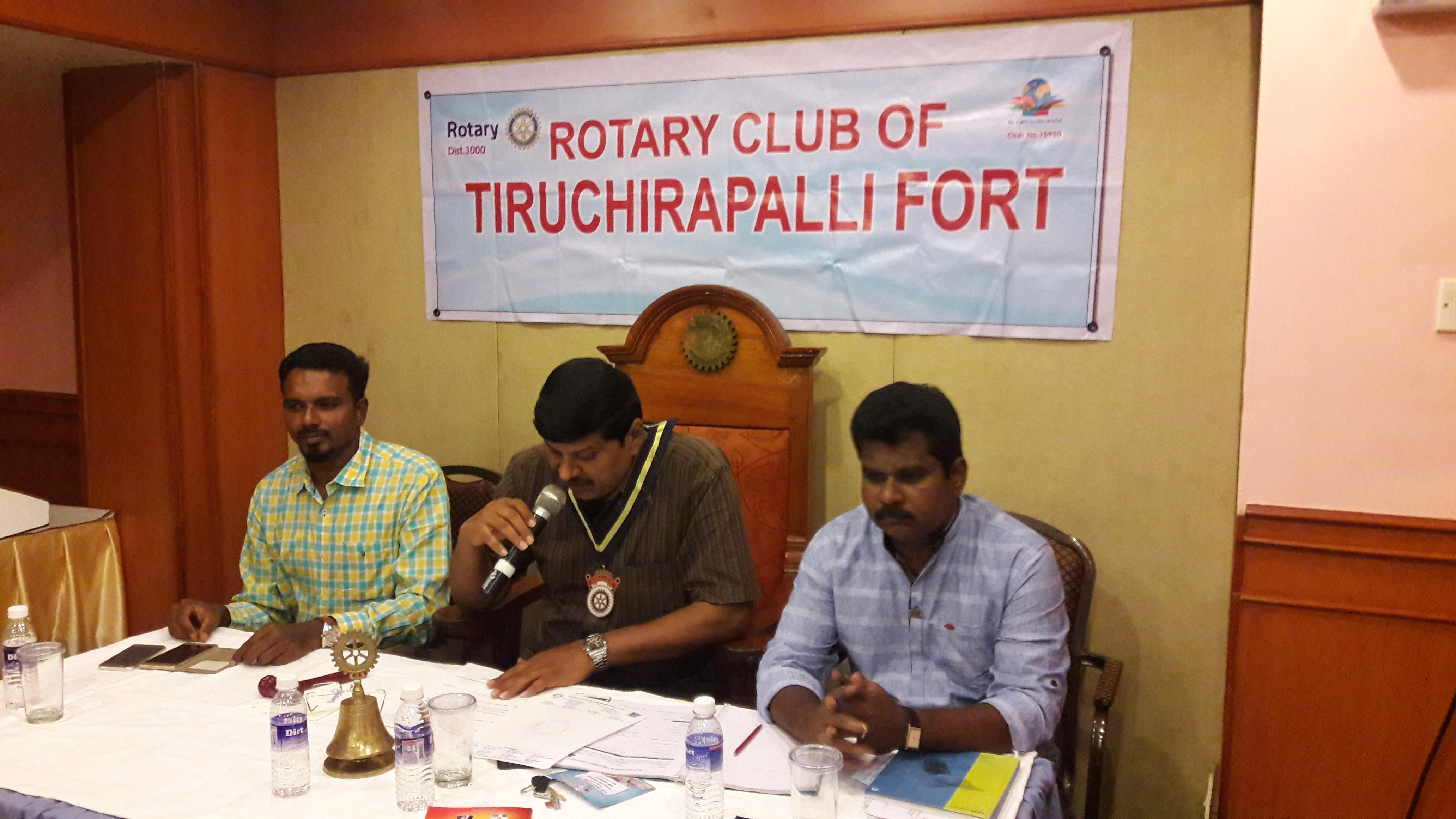 The Environmental Awareness Speech to the members of Fort Rotary Club