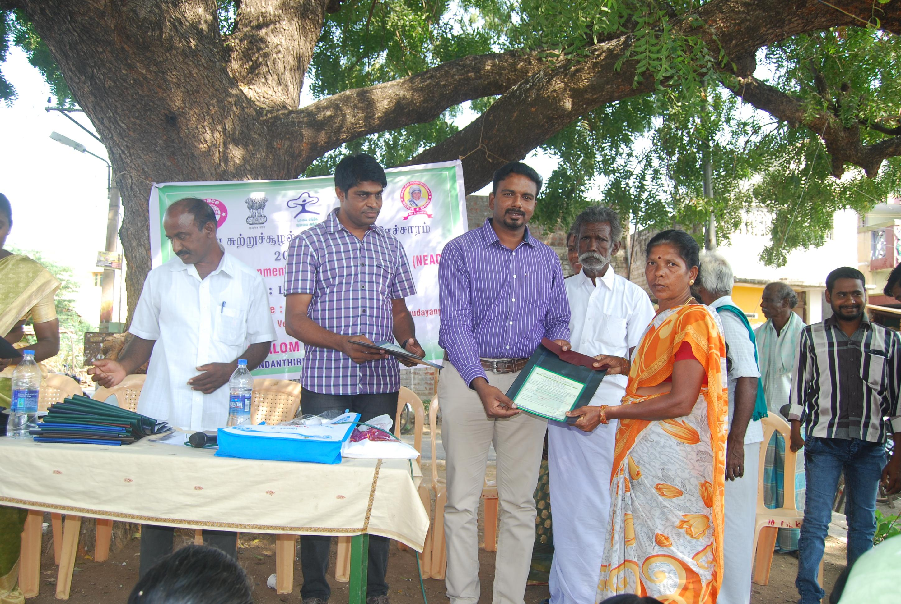 National Environmental Awareness Programme to the farmers of Valespuram