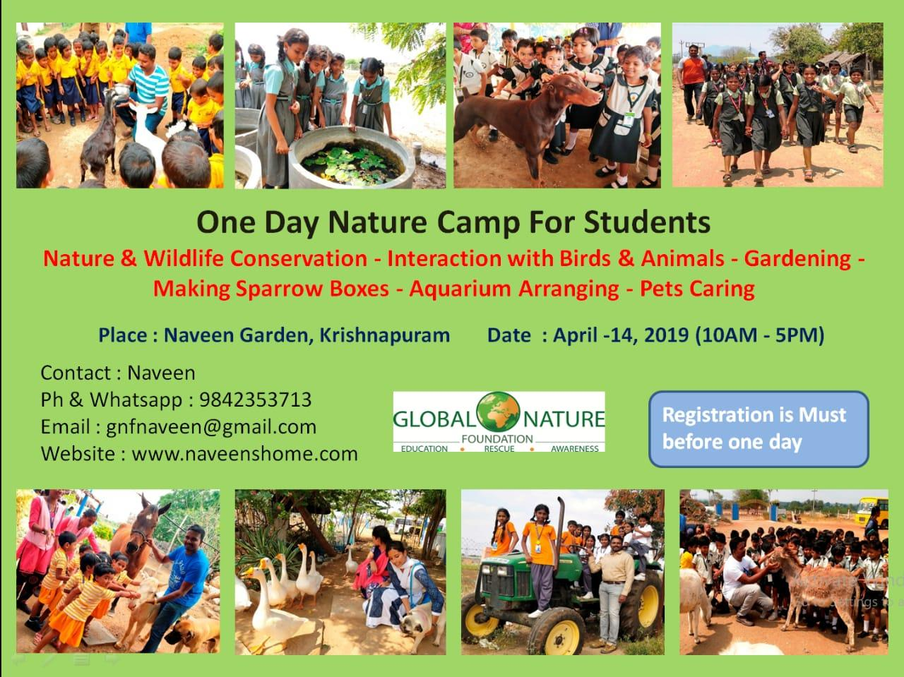 One Day Nature Camp For Students